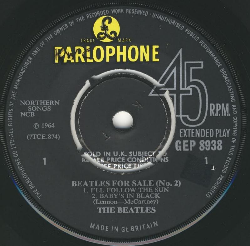 Beatles For Sale No.2 GEP-8938-1st-V2-A