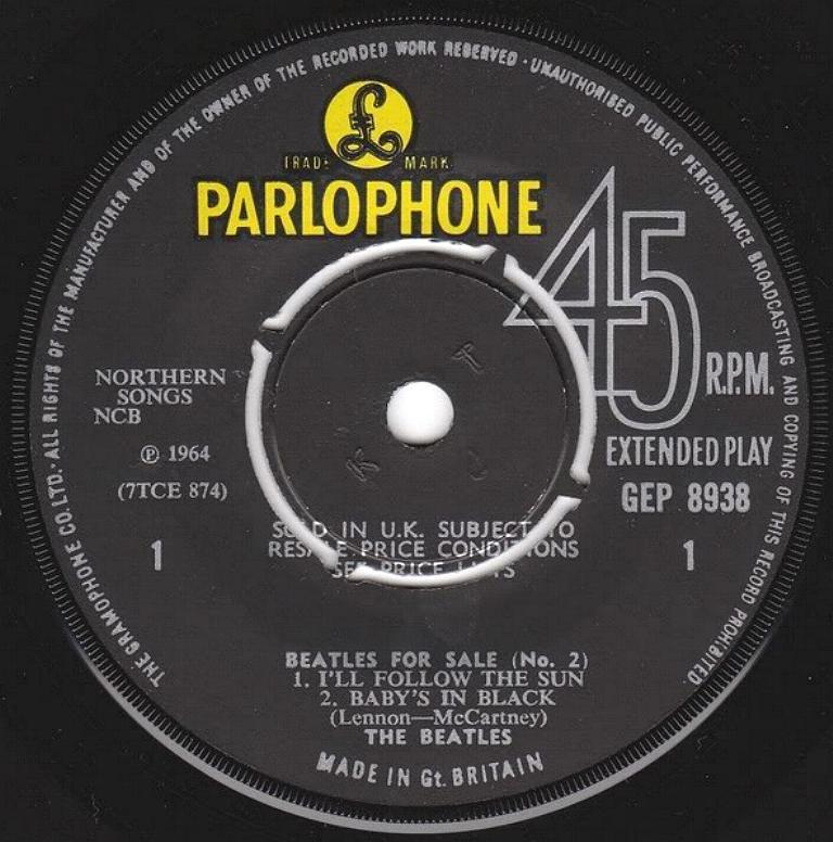 Beatles For Sale No.2 GEP-8938-1st-V3-A