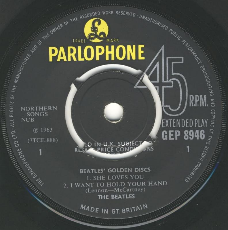 The Beatles' Million Sellers GEP-8946-1st-Decca-A