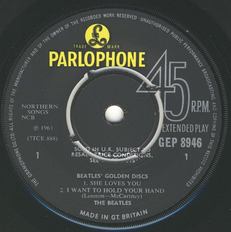 The Beatles' Million Sellers GEP-8946-1st-V1-A