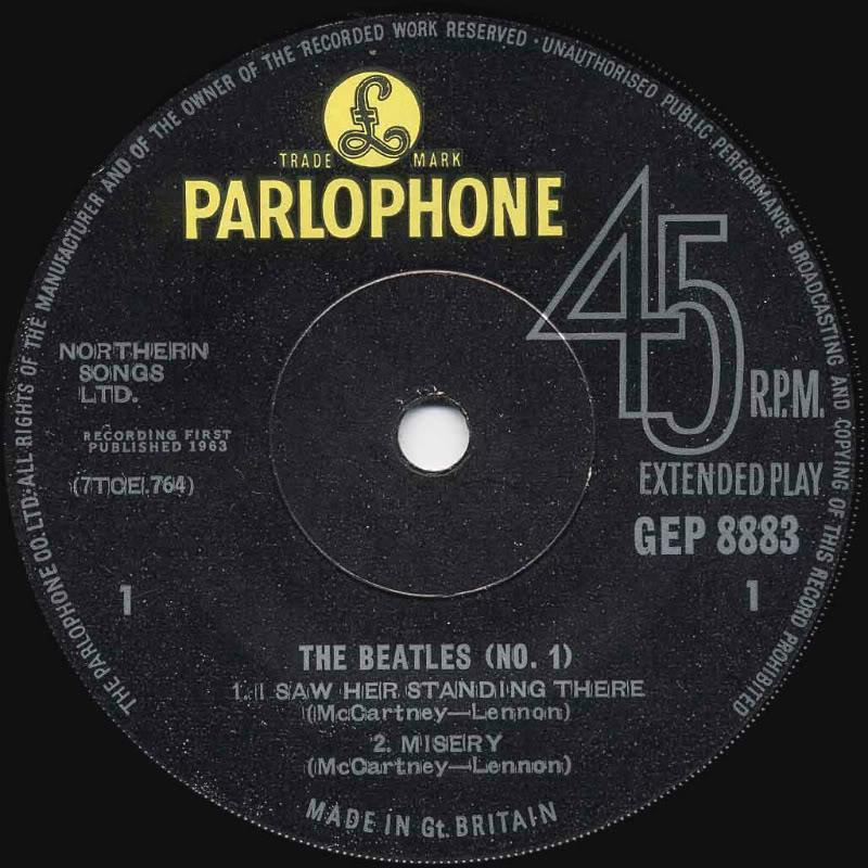 The Beatles No.1 GEP8883SolidA