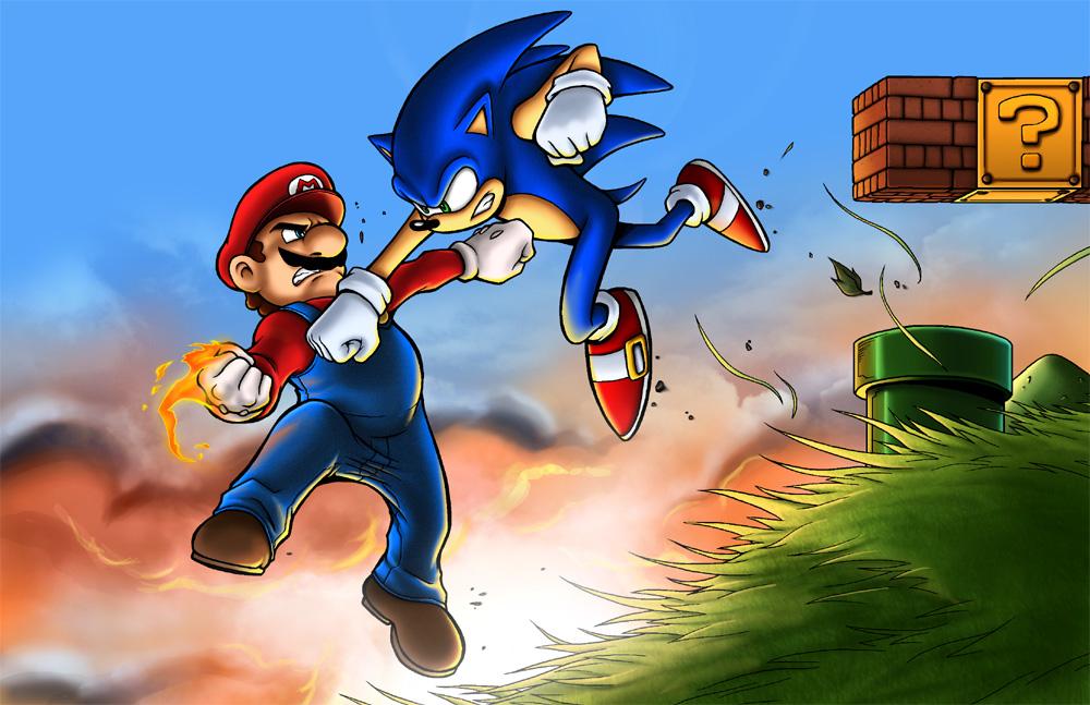 (Juego)-Choque de universos (Leer primer post antes que nada) - Página 4 Mario_vs_sonic_by_tpollockjr