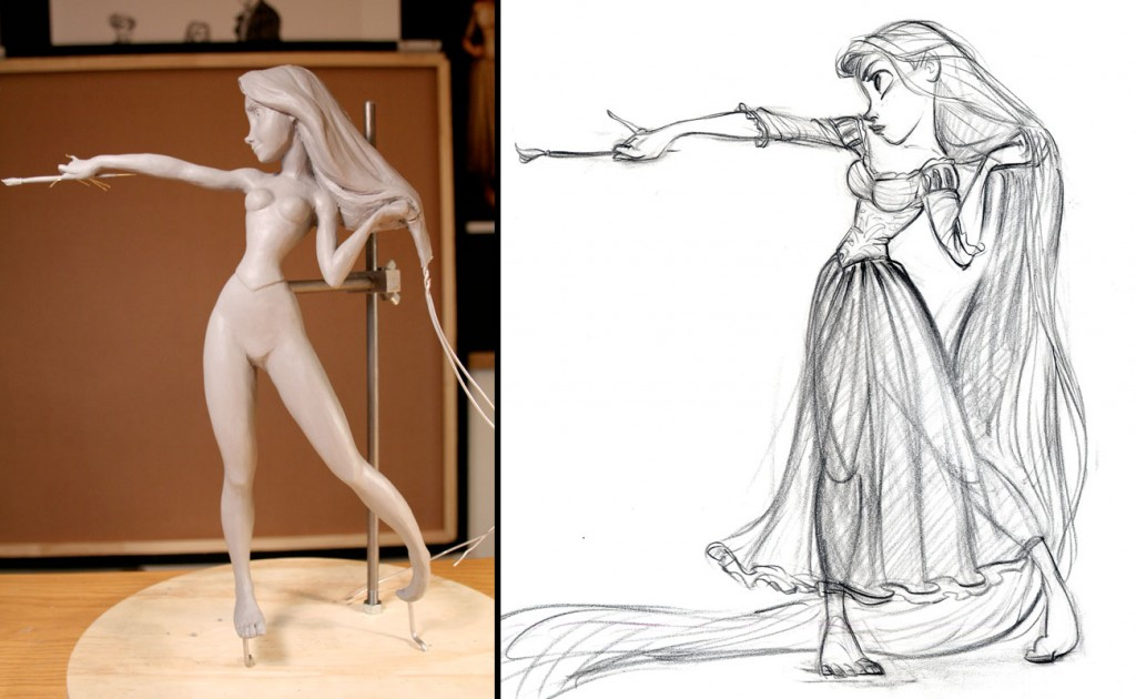 Walt Disney Archives Collection  - Enesco (depuis 2016) Tangled-sculpture02-1024x630
