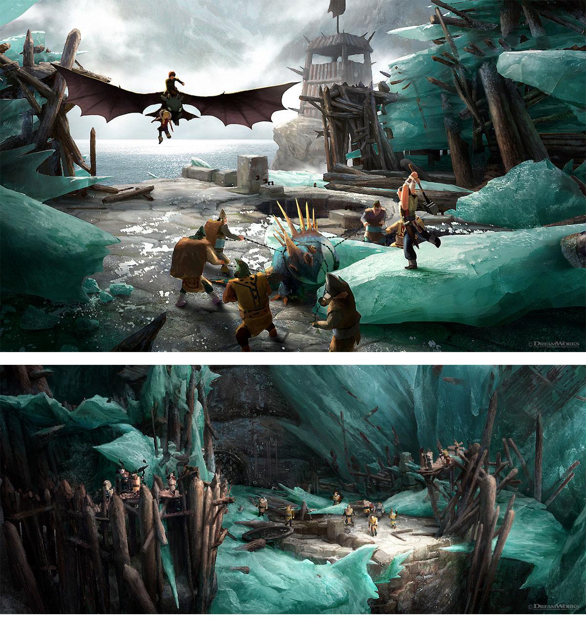 Les travaux réalisés par les artistes sur Dragons - Page 2 Hhtyd2_woonyoung_5