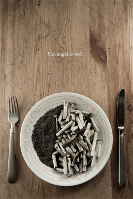 Anti-Smoking Advertisements Your-smoke-meal-v