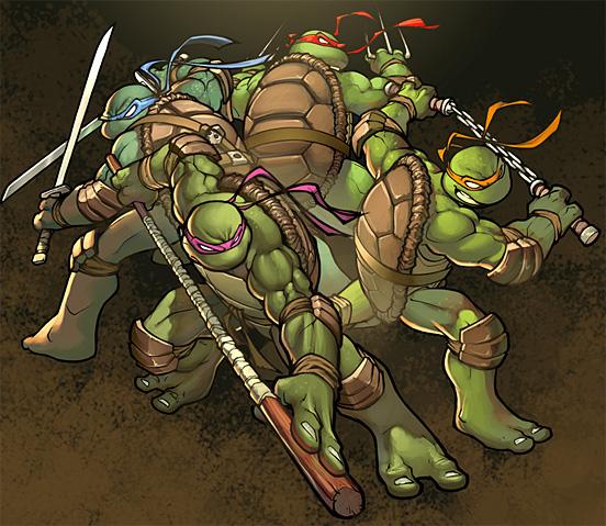Glavni junaci crtanih filmova TMNT-01