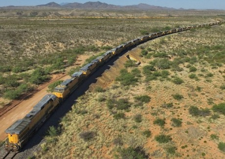 Rail Traffic Depression ~ Spoiler Alert! It is because there are NO goods to transport Union-Pacific-Engines-Google-Earth-460x326