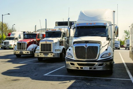 The Amount Of Stuff Being Bought, Sold And Shipped Around The U.S. Hits The Lowest Level In 6 Years Trucks-Public-Domain-460x308