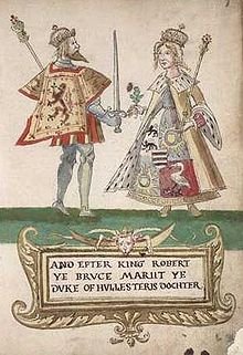 Elizabeth de Burgh, Queen of Scotland Setonarmorialrobertbruceandelizabethdeburgh