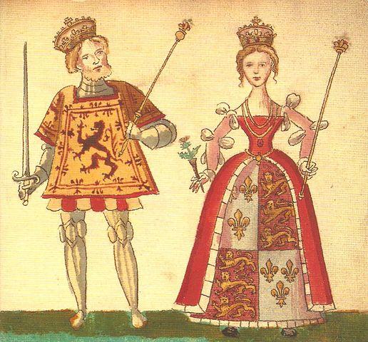 King James I of Scotland Joanbeaufortandjames