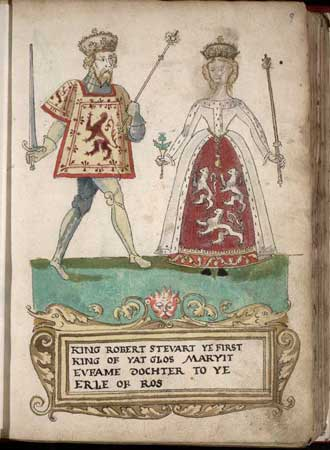 The Two Wives of Robert Stewart II, King of Scots Robert_and_euphemia