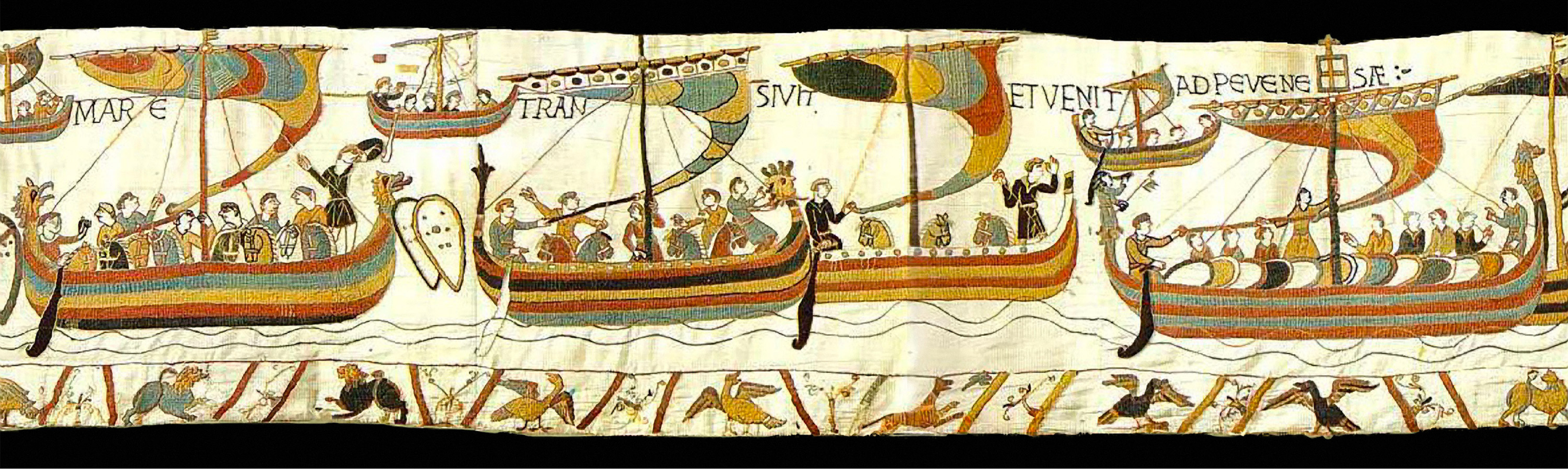 """The Meaning of """"Mora"""", the ship Matilda of Flanders gave William the Conqueror Bayeux-tapestry-mora"""
