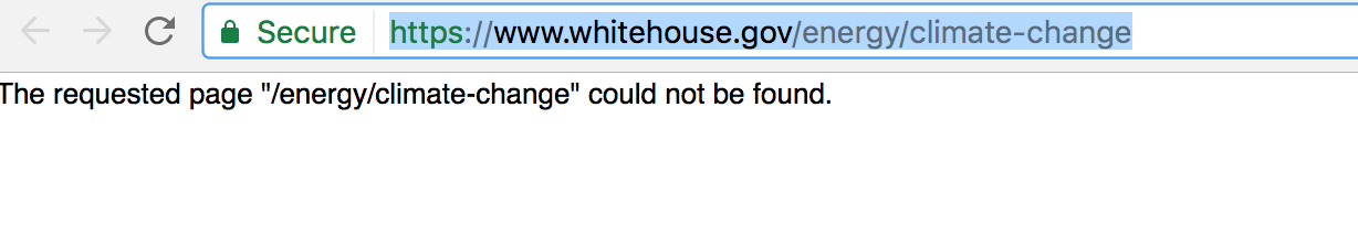 The Minute Trump Took Office, All Reference to 'Climate Change' was Deleted Off White House Website 1484933375405914