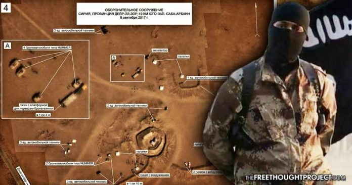 Russia Releases Photos of USA Special Forces Equipment in ISIS Territory in Syria Isis-positions-696x366
