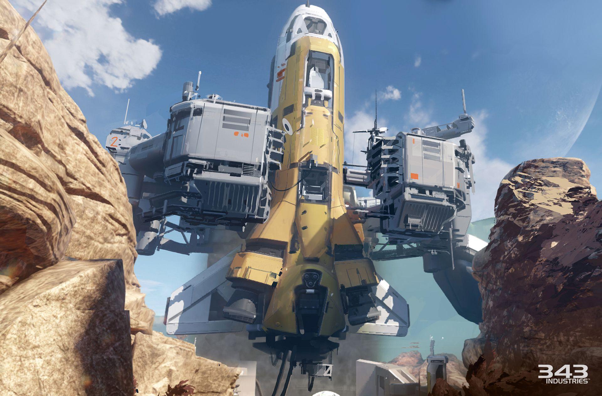 Warzone de Halo 5: Guardians (Halo 5/Firefight/IA/Team/Baptême du Feu/UNSC Infinity/Requiem/Escadron Majestic/Missions/Saisons/Histoire/Major/Maps) H5-guardians-concept-warzone-escape-from-arc-up-and-out