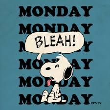 sondaggio divertente Snoopy-monday-bleah