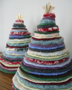 Мастер - классы Thrifted-holiday-trees-2