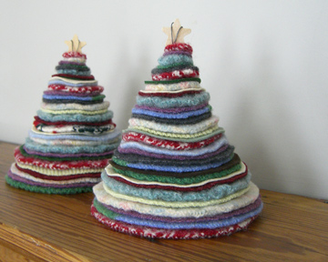 Мастер - классы Thrifted-holiday-trees-3
