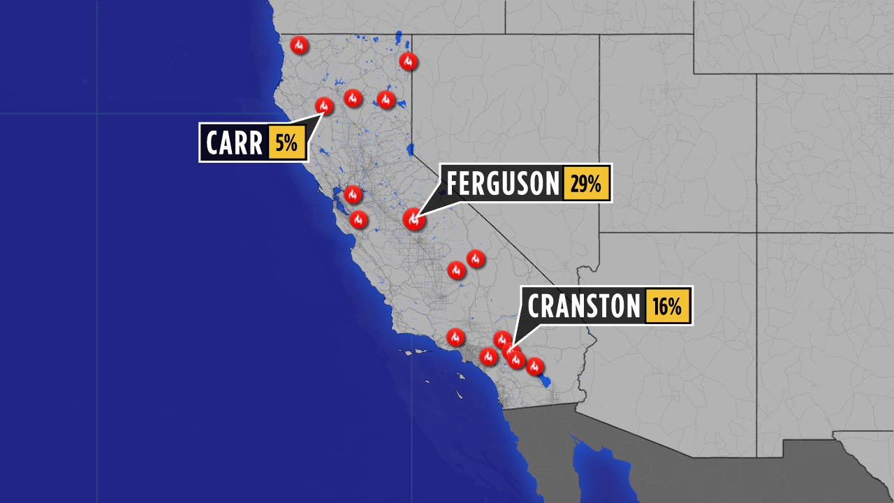 CALIFORNIA FIRESTORMS: Who's geoengineering the statewide conflagration and why? WILDFIRES_MAP0727_9P