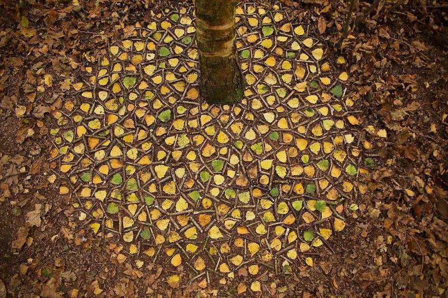Artist Spends Hours Creating Natural Mandalas, And He's Hoping You Will Find Them James-Brunt-Nature-Mandalas-7