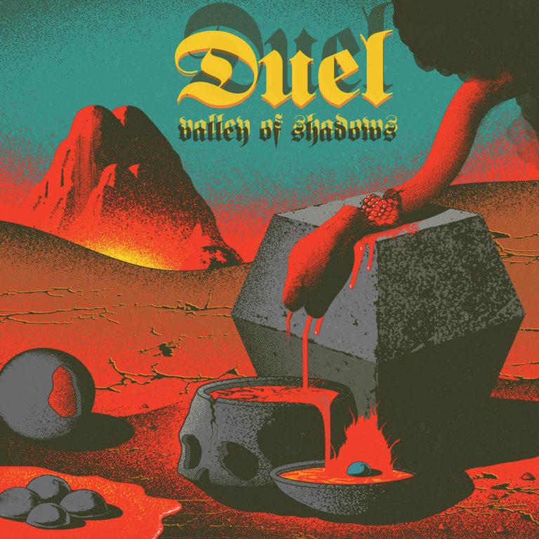 DUEL (ex Scorpion Child) - nuevo lp y gira en noviembre! Duel-valley-of-shadows-768x768