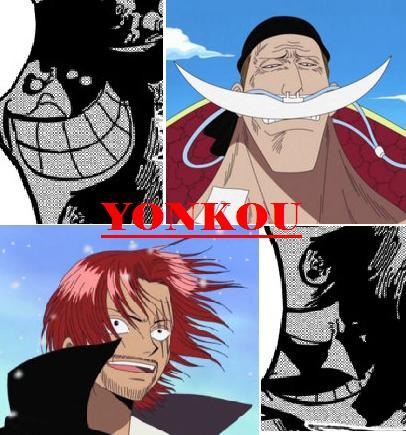 Yonkou - Os Quatro Imperadores Yonkou