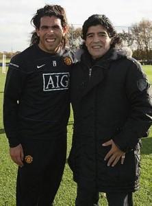 ¿Cuánto mide Carlos Tévez? - Altura - Real height Tevezmaradona-222x300