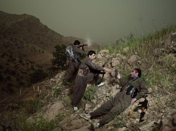 أكراد إيران: عودة لساحات التمرد Emeric_Lhuisset__Theater_War__photographs_with_a_group_of_Iranian-Kurdish_guerilla_fighters__Lambda_print__150_x_112_cm__Iraq__2011-2012__2_