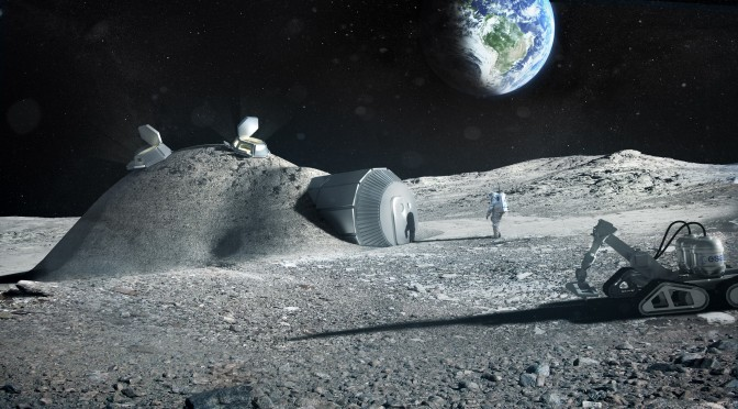 Evidence Suggests There Are Extraterrestrials Bases On Our Moon Lunar_base_made_with_3D_printing-672x372