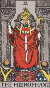 'Lunar Eclipse 23 March 2016' – 4 hours and 15 minutes on Wednesday morning RWS_Tarot_05_Hierophant-171x300