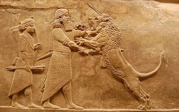 TURQUIE : Economie, politique, diplomatie... - Page 22 Ninive-Chasse-au-lion-Palais-dAssurbanipal