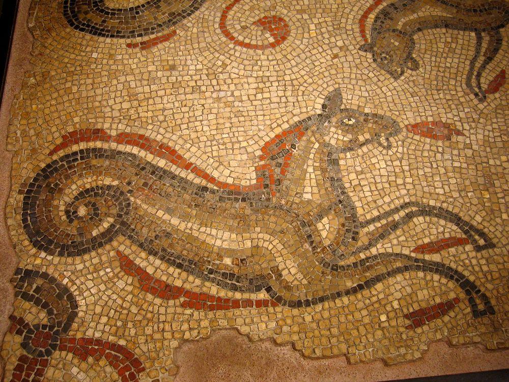 animal de Martin du 20 novembre trouvé par  Martine - Page 2 Serpent_de_Mer_Hippocampe_Mosaique_Romaine