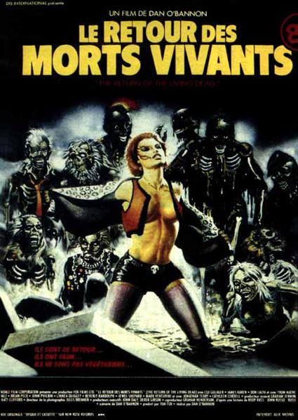 Critiques de films de zombies/contaminés - Page 11 Affiche-le-retour-des-morts-vivants