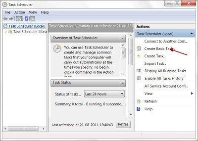 Schedule Shutdown or Restarts in Windows using the Task Scheduler Taskschd-1-400x285