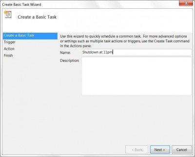 Schedule Shutdown or Restarts in Windows using the Task Scheduler Taskschd-2-400x322