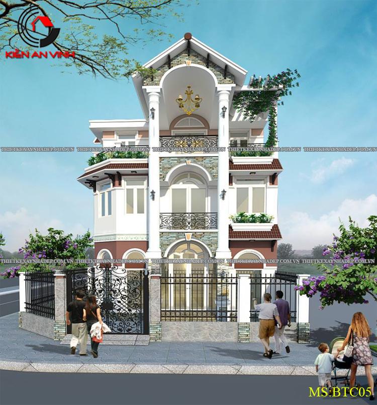 Mẫu thiết kế biệt thự 2 tầng Vincom Village đẹp diện tích 150m2 Thiet-ke-biet-thu-dep-1