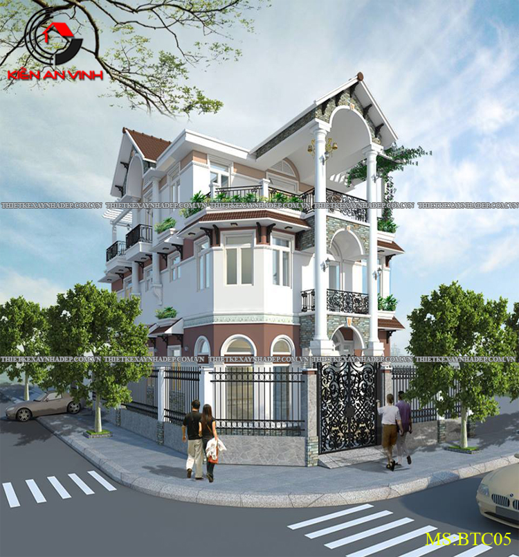 Mẫu thiết kế biệt thự 2 tầng Vincom Village đẹp diện tích 150m2 Thiet-ke-biet-thu-dep-2