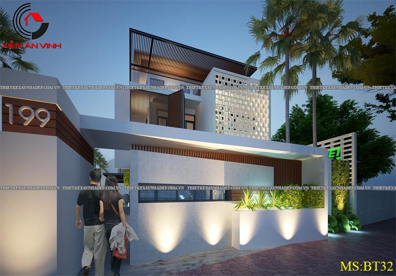 Thiết kế biệt thự đẹp 2 tầng kết hợp văn phòng hiện đại dt 300m2 Biet-thu-ket-hop-van-phong-3