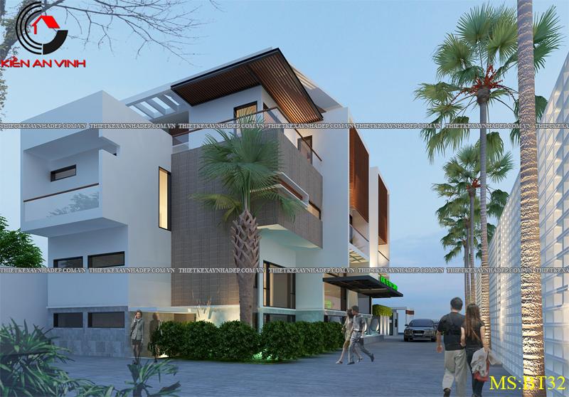 Thiết kế biệt thự đẹp 2 tầng kết hợp văn phòng hiện đại dt 300m2 Biet-thu-ket-hop-van-phong-4