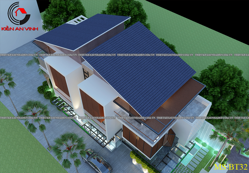Thiết kế biệt thự đẹp 2 tầng kết hợp văn phòng hiện đại dt 300m2 Biet-thu-ket-hop-van-phong-7