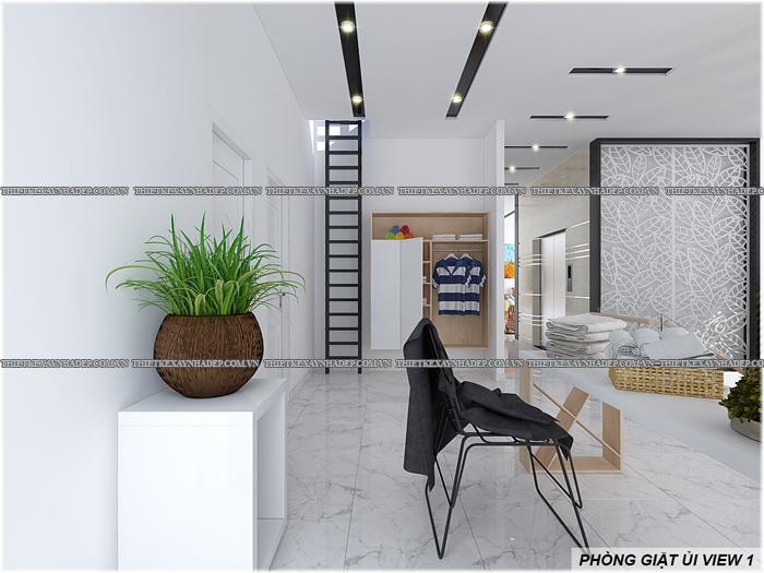 Thiết kế biệt thự đẹp 2 tầng kết hợp văn phòng hiện đại dt 300m2 Phong-giat-ui-1