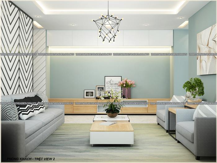 Thiết kế biệt thự đẹp 2 tầng kết hợp văn phòng hiện đại dt 300m2 Phong-khach-tret-2