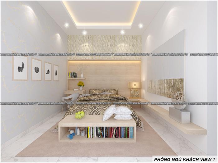 Thiết kế biệt thự đẹp 2 tầng kết hợp văn phòng hiện đại dt 300m2 Phong-ngu-khach-1