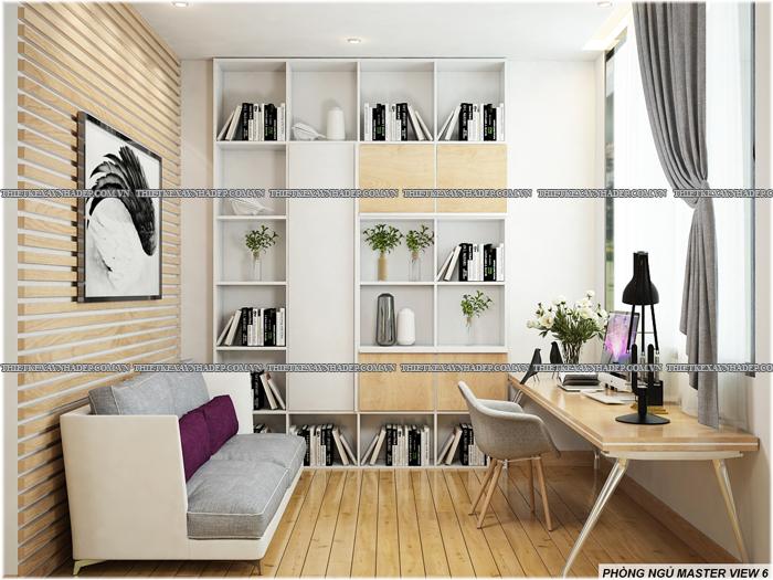 Thiết kế biệt thự đẹp 2 tầng kết hợp văn phòng hiện đại dt 300m2 Phong-ngu-master-3
