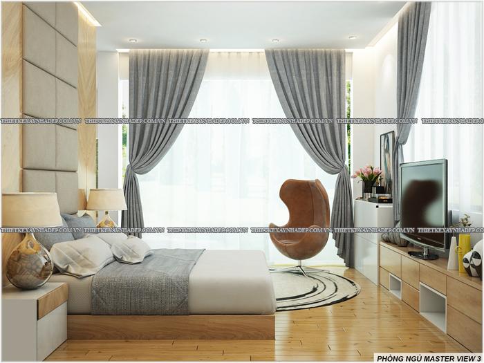 Thiết kế biệt thự đẹp 2 tầng kết hợp văn phòng hiện đại dt 300m2 Phong-ngu-master-5