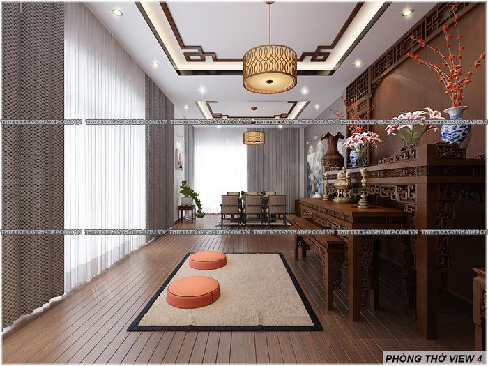 Thiết kế biệt thự đẹp 2 tầng kết hợp văn phòng hiện đại dt 300m2 Phong-tho-4