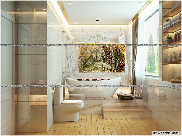 Thiết kế biệt thự đẹp 2 tầng kết hợp văn phòng hiện đại dt 300m2 Wc-master-1