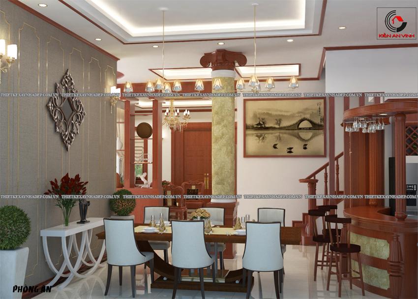 Mẫu thiết kế biệt thự nhà vườn 1 tầng hiện đại diện tích 150m2 Phong-bep-2