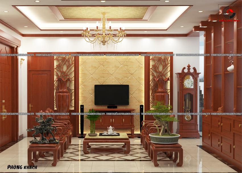 Mẫu thiết kế biệt thự nhà vườn 1 tầng hiện đại diện tích 150m2 Phong-khach-2