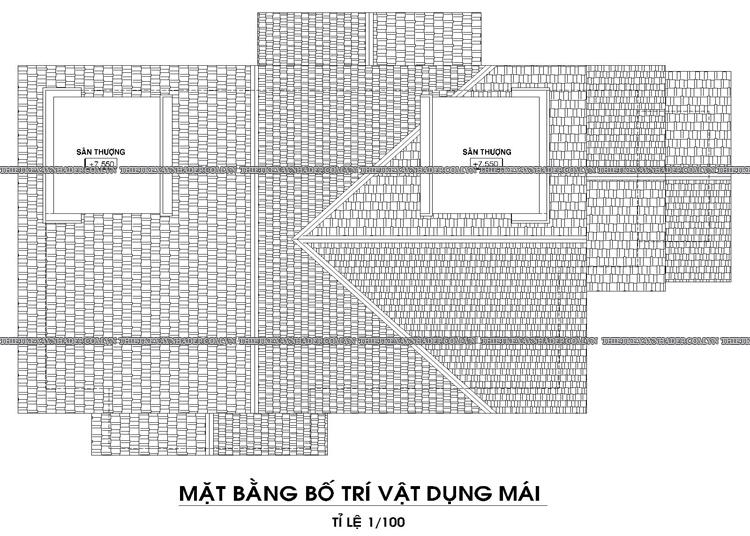 Mẫu thiết kế biệt thự 2 tầng 1 tum đẹp tại Q.12 diện tích 150m2 Tang-mai